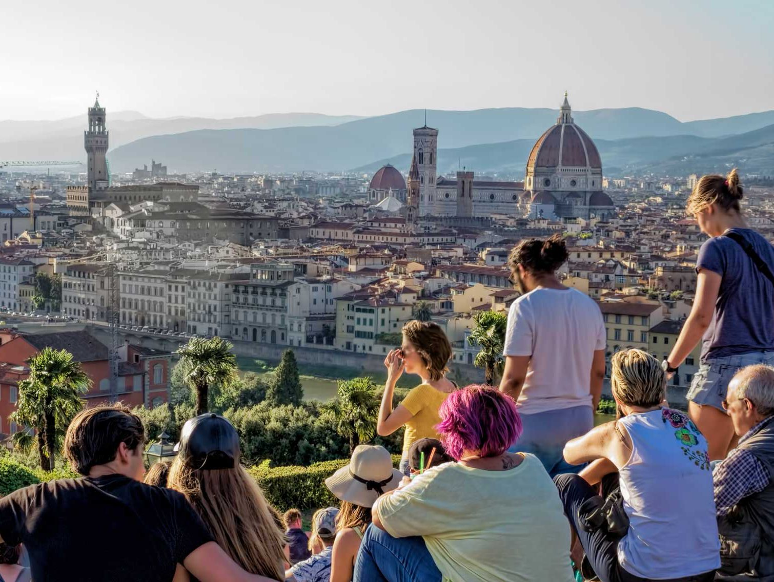group of people overlooking Florence